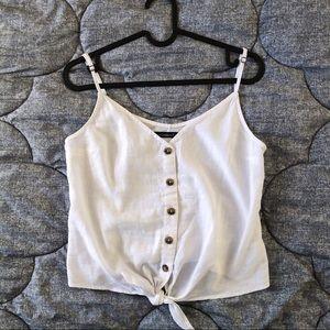 White tank top w/ tied waist